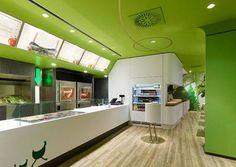 Decoration interieure Fast-food Wienerwald concept design espace Ippolito Fleitz - 03