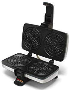 Chef'schoice Pizzellepro 834 Express Electric Pizzelle Maker Black/stainless Steel - Bake an old world favorite right in your own home - and do it faster. The Chef'sChoice PizzellePro bakes two 4 pizzelles in less than 30 seconds. Pizzelle Maker, Pizzelle Cookies, Belgian Waffle Maker, Belgian Waffles, Commercial Waffle Maker, Waffle Maker Reviews, Chef's Choice, Specialty Appliances, Waffle Iron