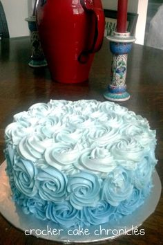 "No, I still don't like cake but isn't my friend Lori's cake so pretty???  And she posts a unique ""whipped cream"" frosting recipe."