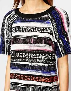 Enlarge Warehouse Stripe T-Shirt Dress
