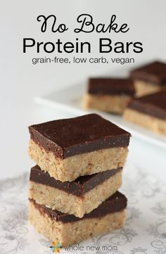 Grain-Free No-Bake Protein Bars