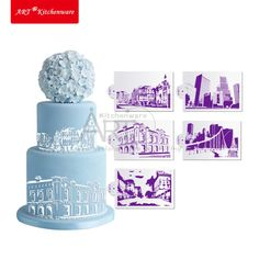 Online Shopping-landmark stencil set