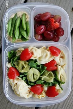 Pasta packed for lunch | with @EasyLunchboxes containers