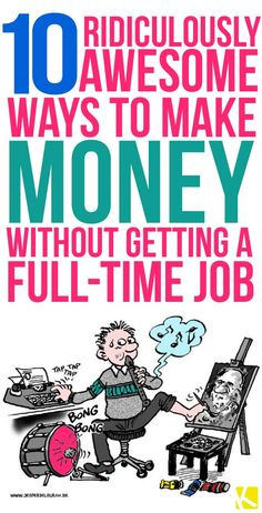 10 Ridiculously Awesome Ways to Make Money Without Getting a Full-Time Job. You are going to love these money making ideas. Ways To Earn Money, Earn Money From Home, Make Money Fast, Earn Money Online, Make Money Blogging, Online Jobs, Money Tips, Money Saving Tips, Online Careers