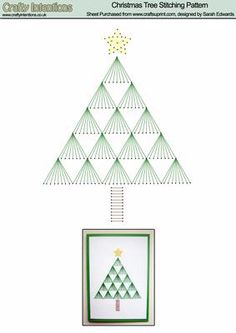 Christmas Tree Stitching Pattern on Craftsuprint designed by Sarah Edwards - Christmas Tree Stitching Pattern - Now available for download!