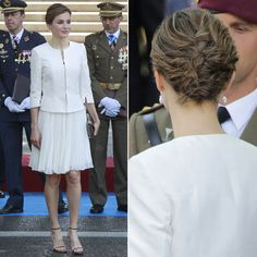 Queen Letizia of Spain attends the Armed Forces Day in 2015 in Guadalajara, Spain.