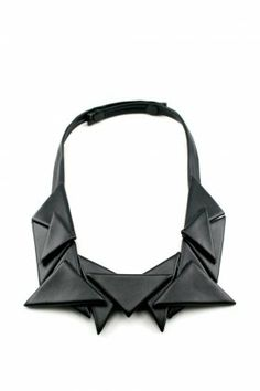 Geometric Jewellery - folded fabric geo butterfly collar necklace - modern statement jewelry // Doris Q