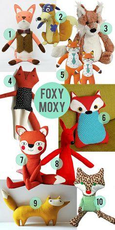 10 Foxes Your Children Will Love // Little Gray Pixel by littlegraypixel, via Flickr  #easterbasket #easter #kids #fox #plush