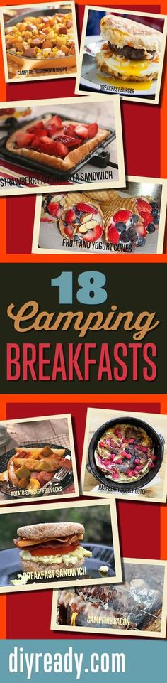 Mouthwatering Recipes You Must Try On Your Next Camping Trip http://diyready.com/18-mouthwatering-breakfast-recipes-to-try-on-your-next-camping-trip/