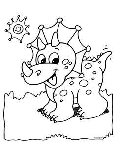 dinosaur coloring page - Preschool Dinosaur Coloring Pages