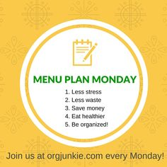 Menu Plan Monday - recipe ideas and menu planning inspiration for the week of Jan 25/16 including 10 Easy & Delicious Weeknight Dinners that are Ready in Less than 1 Hour!