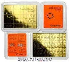 Valcambi Suisse 50 Gram Gold 99.99% Combi Bar Individual Mini Bars SKU27930. Deal Price: $2305.96. List Price: $2742.49. Visit http://dealtodeals.com/valcambi-suisse-gram-gold-combi-bar-individual-mini-bars-sku27930/d21451/coins-paper-money/c195/