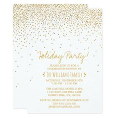 White Gold White Corporate Party Event Template | Zazzle.com