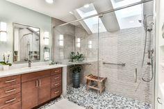 Reston Primary Bathroom Remodel - Contemporary - Bathroom - DC Metro - by Synergy Design & Construction   Houzz