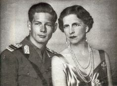 Queen Helena (Helen) of Romania born Princess Helen of Greece and your son Prince Mikhail (Michael) of Romania, later King Michael I. Queen Mother, Queen Mary, King Queen, Parma, Michael I Of Romania, Romanian Royal Family, Greek Royalty, Princess Alexandra, Royal Blood