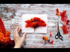 Как нарисовать шерстью мак? Картины из шерсти, мастер-класс - YouTube