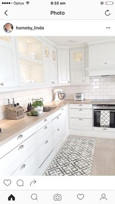 my home - Decoration For Home Cosy Kitchen, Kitchen Room Design, Shabby Chic Kitchen, Ikea Kitchen, Home Decor Kitchen, Kitchen Living, Home Kitchens, Kitchen Cabinets, Cuisines Design
