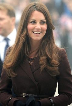 Kate in chocolate brown coat dress