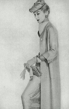 Clare Potter P/E 1953. Mannequin Lisa Fonssagrives.
