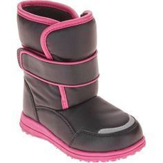 dca77a9384e10 Girls Shoes 57974  Snow Boots Toddler Girl Black And Pink Size 6 8 9 11