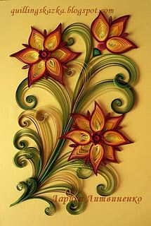 amazing quilled flowers