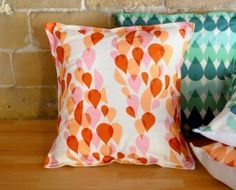 Coussins carrés originaux et design en lin et coton (2) - Mademoiselle Dimanche
