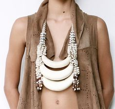 www.cewax.fr aime ce collier style ethnique afro tendance tribale Papua New Guinea