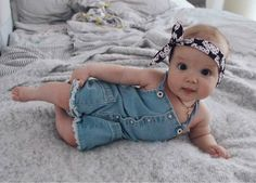 Newborn Kid Baby Girls Denim Romper Bodysuit Jumpsuit Pants Outfits US Stock wea Baby Outfits, Outfits Niños, Newborn Outfits, Fashion Outfits, Toddler Outfits, Baby Kind, Cute Baby Girl, Baby Love, Baby Girls