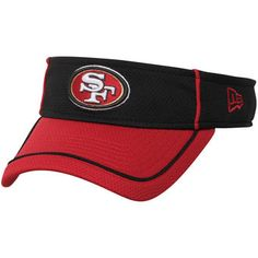 San Francisco 49ers New Era NFL Energy Pipe Visor - Black/Scarlet
