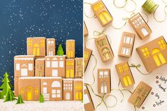 These DIY Gift Boxes Double As Charming Holiday Decor via Brit + Co