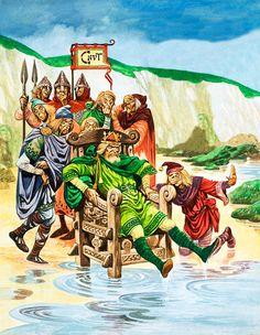 King Canute (Original) art by Peter Jackson