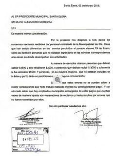 Concejales DE Cambiemos RECLAMAN A LA REDUCCION DE MOREYRA SUELDO A CONTRATADOS - SANTA ELENA DIGITAL