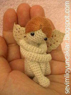 Crocheted Miniature Angel by Denizmum on Etsy, $91.00