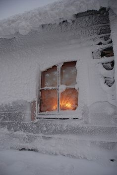 Cozy..inside.