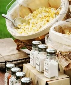 Who says you can't have a popcorn bar at your wedding reception? #weddings