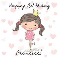Cartão de feliz aniversário - ilustração de arte em vetor