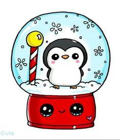 - # kawaii - Style and More - All kinds of trendy ideas Kawaii Girl Drawings, Cute Food Drawings, Cute Animal Drawings, Disney Drawings, Food Drawing Easy, Xmas Drawing, Christmas Drawing, Christmas Art, Arte Do Kawaii