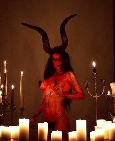 Dark Art And Cool Stuff added a new photo. Baphomet, Estilo Dark, Satanic Art, Gothic Girls, Horror Art, Erotic Art, Dark Art, Female Art, Pagan