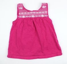 Baby Gap Girls Pink Sleeveless Top with White Embroidery in Size 3 and Only $3.99 Online at May Bug Treasures Resale