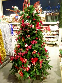 Albero di Natale Rosso Naturale