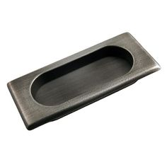 """This distressed nickel finish cabinet/drawer flush pull with thick rectangle design and 7/16"""" recess is from RK International perfect for use on cabinet doors and drawers capable of accepting a mounted pull."""