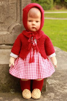 Flickr Old Dolls, Antique Dolls, Vintage Dolls, Realistic Baby Dolls, Doll Maker, Knitted Dolls, Hello Dolly, Red Riding Hood, Miniature Dolls