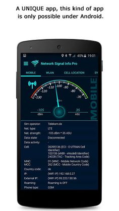 Network Signal Info Pro v4.03.01   Network Signal Info Pro v4.03.01Requirements:4.1Overview:Network Signal Info Pro provides detailed information on your currently used network regardless whether you are using WiFi or a cellular connection.  The Pro version (compared to the free version) has no ads more widgets and a in the background running log function. Now with widgets: 1x1 2x1 and 2x2 in 3 different styles. (If you can't find widgets please copy the app to phone memory)  I have…