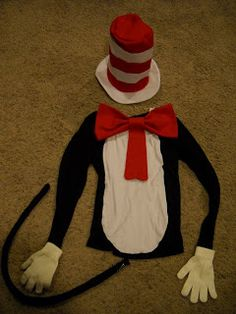 Here's a great DIY Cat in the Hat Costume! Grab your materials from Chez Thrift! http://ccs4u.org/chez-thrift/