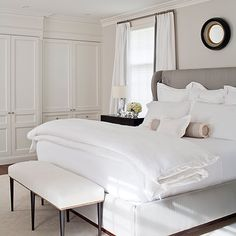 McGill Design Group - Love white bed linens.