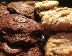 double chocolate and oatmeal raisin best chewy easy cookies recipe