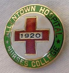 Allentown Hospital Nurses College Graduation Pin 1920