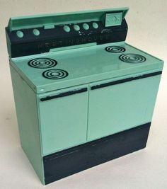 Westinghouse Stove Recipe Box ~ aqua