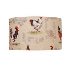 This cylinder #lampshade in Chicken Cotton made by Jim Lawrence would add character and rustic charm to any country kitchen. Pair with a Jim Lawrence #pendant holder.