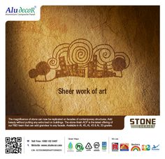 The majestic beauty of stone can be brought into contemporary facade designing with #Aludecor #StoneSeries without exerting extra pressure of the building structure.